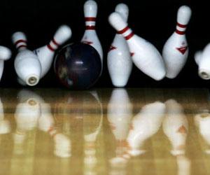Physical activity  bowling pins