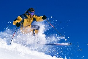 Physical activity   downhill skiing  iStock_000002868507Small