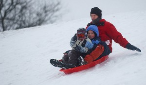 Physical activity  sledding