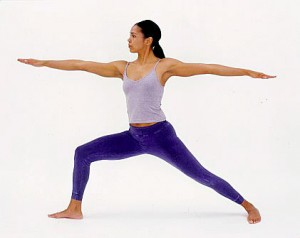 Physical activity  standing yoga pose