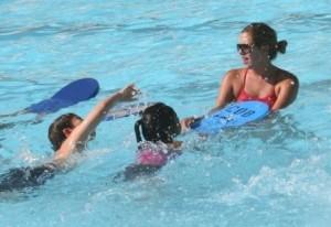 Physical activity  swim class kids