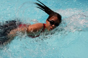 Physical activity   swim woman