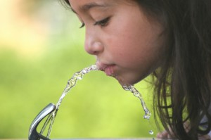 KIDD - girl drinking water
