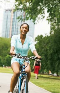 Physical Activity - girl riding a bike