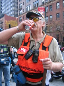 Mr D Drink Break NYC Marathon