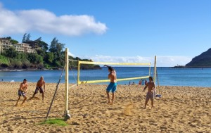 Physical activity  - beach volleyball