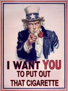 RFS - Uncle Sam no smoking sign