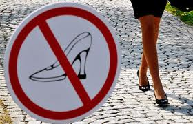 RFS- no high heels sign