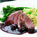 food - pomegranate duck breast